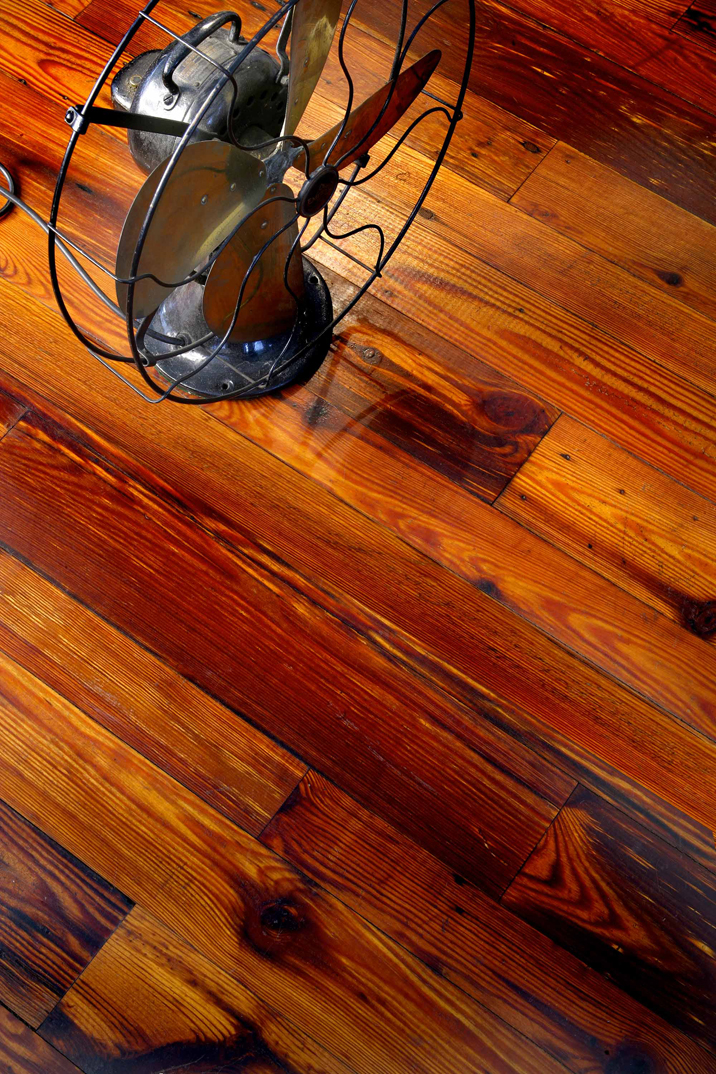 Antique pine flooring
